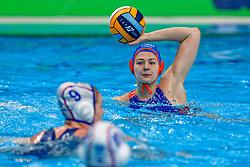 Simone Van De Kraats #11 of Netherlands during the semi final Netherlands vs Russia on LEN European Aquatics Waterpolo January 23, 2020 in Duna Arena in Budapest, Hungary