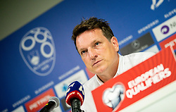 Andreas Herzog, head coach of Israel at press conference after the 2020 UEFA European Championships group G qualifying match between Slovenia and Israel at SRC Stozice on September 9, 2019 in Ljubljana, Slovenia. Photo by Matic Klansek Velej / Sportida