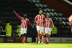 Stoke City's Victor Moses celebrates after scoring the third goal - Photo mandatory by-line: Matt McNulty/JMP - Mobile: 07966 386802 - 26/01/2015 - SPORT - Football - Rochdale - Spotland Stadium - Rochdale v Stoke City - FA Cup Fourth Round