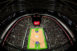 Arena during final match of Basketball NLB League at Final four tournament between KK Union Olimpija (SLO) and Partizan Belgrade (SRB), on April 21, 2011 in Arena Stozice, Ljubljana, Slovenia.  (Photo By Vid Ponikvar / Sportida.com)