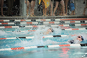 Stevenson's swim team held a home meet against Messiah College on Saturday afternoon.