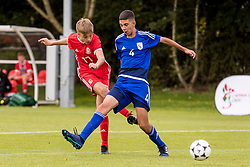 WREXHAM, WALES - Tuesday, August 13, 2019: Wales' Alex Roberts scores the second goal to make the score 2-3 during the UEFA Under-15's Development Tournament match between Wales and Cyprus at Colliers Park. (Pic by Paul Greenwood/Propaganda)