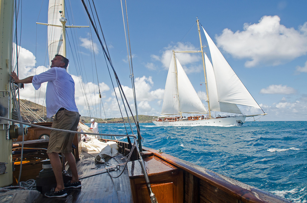 Sincerity at the Antigua Classic Yacht Regatta.<br /> <br /> Back in the 60s, classic yachts, which were gathered in English Harbour Antigua, had begun chartering and the captains and crews challenged each other to a race down to Guadeloupe and back to celebrate the end of the charter season. From this informal race, Antigua Race Week was formalised in 1967, and in those days all of the yachts were classics. As the years grew on, the classic yachts were slowly outnumbered but the faster sleeker modern racing yachts and 24 years later the Classic Class had diminished to a few boats and was abandoned in 1987. However this same year seven classic yachts turned out and were placed in Cruising Class 3 with the bare boats. The class was so unmatched that it was downright dangerous, so Captain Uli Pruesse hosted a meeting onboard Aschanti of Saba with several classic skippers and in 1988 the Antigua Classic Yacht Regatta was born, with seven boats.<br /> <br /> In 1991, Elizabeth Meyer brought her newly refitted Endeavour and Baron Edmond Rothschild brought his 6-meter Spirit of St Kitts and &ldquo;CSR&rdquo; became the first Sponsor and inaugurated the Concours d&rsquo;El&eacute;gance. In 1996 we created the &ldquo;Spirit of Tradition Class&rdquo;, which has now been accepted all over the world, which gives the &ldquo;new&rdquo; classics, built along the lines of the old, a chance to sail alongside their sister ships. In 1999 we celebrated the first race between the J class yachts in 60 years. Mount Gay Rum has sponsored the Regatta for many years, and we have recently added Officine Panerai as our first ever Platinum Sponsor.<br /> <br /> The Antigua Classic Yacht Regatta has maintained a steady growth, hosting between 50 and 60 yachts every year and enjoys a wonderful variety of competitors, including traditional craft from the islands, classic ketches, sloops, schooners and yawls making the bulk of the fleet, together with the stunningly beautiful Spirit of Tradition y