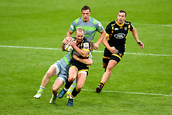 Dan Robson of Wasps is tackled - Mandatory by-line: Robbie Stephenson/JMP - 29/07/2017 - RUGBY - Franklin's Gardens - Northampton, England - Wasps v Newcastle Falcons - Singha Premiership Rugby 7s