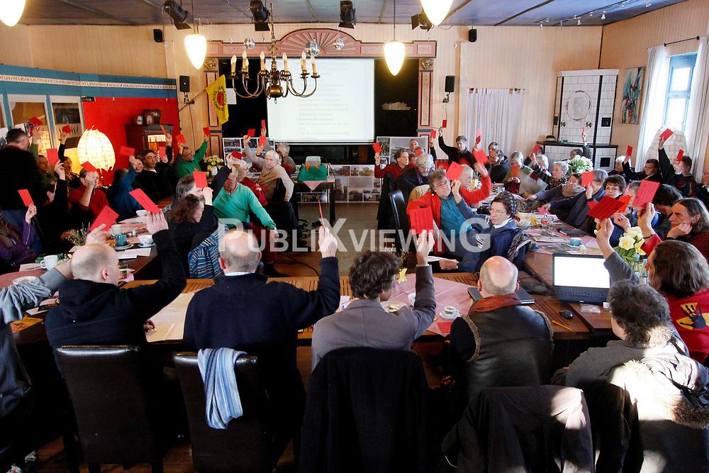 Mitgliederversammlung der B&uuml;rgerinitiative Umweltschutz L&uuml;chow-Dannenberg im Restaurant Bauernstuben in Trebel.<br />  <br /> <br /> Ort: Trebel<br /> Copyright: Andreas Conradt<br /> Quelle: PubiXvewinG