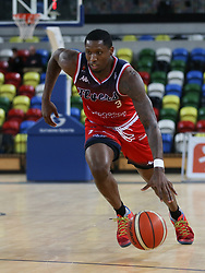 Fred Thomas of Bristol Flyers drives with the ball - Photo mandatory by-line: Arron Gent/JMP - 20/11/2019 - BASKETBALL - Copper Box Arena - London, England - London Lions v Bristol Flyers - British Basketball League Cup