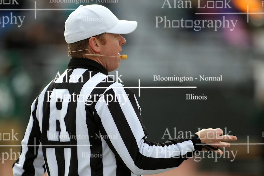 15 November 2014:  Referee: Rob Pickers during an NCAA division 3 football game between the North Park Vikingsand the Illinois Wesleyan Titans in Tucci Stadium on Wilder Field, Bloomington IL