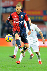 Italian Championship soccer 2017/2018 Genoa vs Roma. 26 Nov 2017 Pictured: Luca Rigoni of Genoa CFC in action during the italian championship match between Genoa CFC and AS Roma at Luigi Ferraris Stadium in Genoa, on November 26, 2017. Photo credit: Massimo Cebrelli / MEGA TheMegaAgency.com +1 888 505 6342