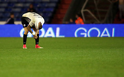 Marcus Maddison of Peterborough United cuts a dejected figure after Oldham Athletic score their third goal - Mandatory by-line: Joe Dent/JMP - 26/09/2017 - FOOTBALL - Sportsdirect.com Park - Oldham, England - Oldham Athletic v Peterborough United - Sky Bet League One