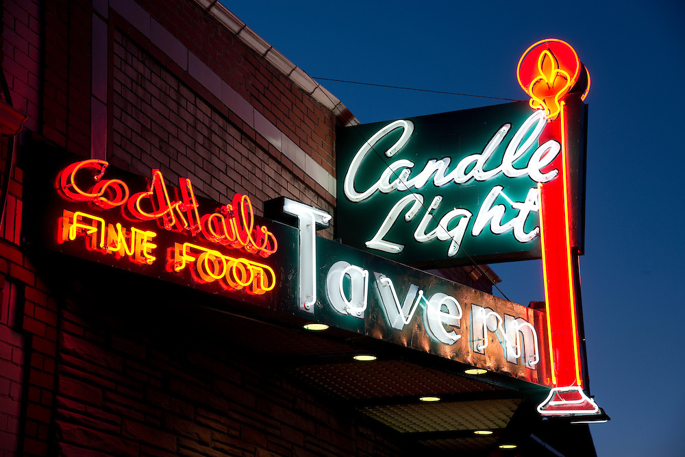 "A quintessential neighborhood bar, the Candle Light Tavern was voted Denver's ""Best Dive Bar"" in 2011, though it has been around much longer than that.  The owners refurbished the vintage neon sign in 2013, and it still pulls in the customers."