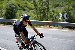 Barbara Guarischi descends on Stage 8 of the Giro Rosa - a 141.8 km road race, between Baronissi and Centola fraz. Palinuro on July 7, 2017, in Salerno, Italy. (Photo by Sean Robinson/Velofocus.com)