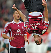 Albert Bunjaku celebrates scoring for Nurnberg. FC Nurnberg v SV Werder Bremen. 31st October 2009.