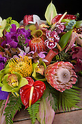 Tropical flower arrangement, Hawaii