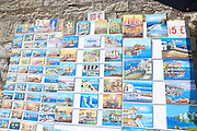 souvenir postcards Heraklion, Crete Island, Greece