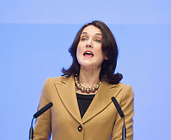 Hon Theresa Villiers MP, Secretary of State for Northern Ireland during the Conservative Party Conference, ICC, Birmingham, Great Britain, October 8, 2012. Photo by Elliott Franks / i-Images.
