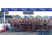 Mens Elite and Orange Wave during The Great South Run in Southsea, Portsmouth, United Kingdom on 23 October 2016. Photo by Jon Bromley.