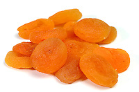 Studio shot of dried apricots