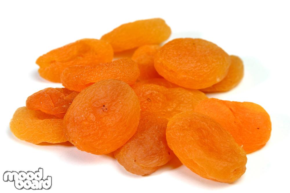 Studio shot of dried apricots