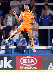 Colchester United's Macauley Bonne celebrates scoring his goal - Mandatory byline: Joe Dent/JMP - 07966386802 - 15/08/2015 - FOOTBALL - ABAX Stadium -Peterborough,England - Peterborough United v Colchester United - Sky Bet League One