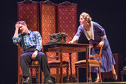 Straight from co-creating Harry Potter and the Cursed Child in the West End, director John Tiffany revives his Broadway triumph The Glass Menagerie. Working again with movement director Steven Hoggett, with whom he made the National Theatre of Scotland&rsquo;s internationally celebrated Black Watch, he directs a stellar cast.<br /> <br /> Pictured: Michael Esper (Tom), Cherry Jones (Amanda), Kate O'Flynn (Laura) Seth Numrich (The Gentleman Caller)