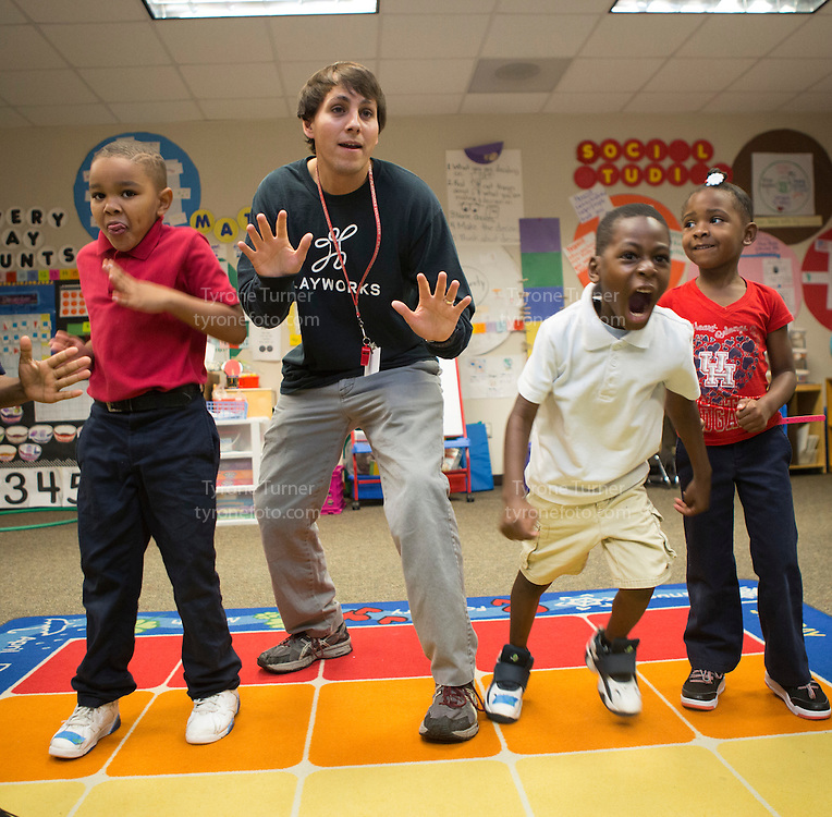 Playworks<br /> <br /> <br /> Cummings Elementary School<br /> 10455 S Kirkwood Rd, Houston, TX 77099<br /> <br /> <br /> Teacher is Ms. Hill, Kindergarten class<br /> <br /> the only released kids are in pic # 4891