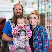 14.06.2018.             <br /> Limerick Food Group hosted the Urban Food Fest street food evening in the Milk Market on Thursday June 14th with a 'Summer Fiesta' theme in one big Limerick city summer party.<br /> <br /> Pictured at the event were, Jack Corbett, Polly Corbett and Eva Byrne. Picture: Alan Place