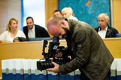 Camera guy during press conference of cycling race 24th Tour de Slovenie 2017, on May 4, 2017 in Telekom Slovenije, Ljubljana, Slovenia. Photo by Vid Ponikvar / Sportida