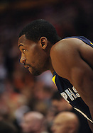 Nov. 5 2010; Phoenix, AZ, USA; Memphis Grizzlies guard Tony Allen (9) reacts on the court against the Phoenix Suns at the US Airways Center.  The Suns defeated the Memphis Grizzlies in double over time 123 - 118.  Mandatory Credit: Jennifer Stewart-US PRESSWIRE...