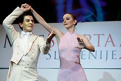 Dancers during event Miss Sports of Slovenia 2012, on April 21, 2012, in Festivalna dvorana, Ljubljana, Slovenia. (Photo by Urban Urbanc / Sportida.com)