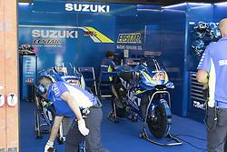 June 3, 2018 - Mugello, Italy, Italy - Box Suzuki during Race MotoGP  at the Mugello International Cuircuit for the sixth round of MotoGP World Championship Gran Premio d'Italia Oakley on June 3, 2018 in Scarperia, Italy  (Credit Image: © Fabio Averna/NurPhoto via ZUMA Press)