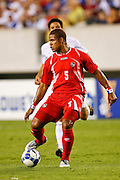 July 18 2009: Roman Torres of Panama during the game between USA and Panama. The United States defeated Panama 2-1 in added extra time in a CONCACAF Gold Cup quarter-final match at Lincoln Financial Field in Philadelphia, Pennsylvania.