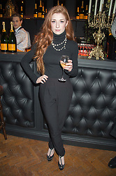 NICOLA ROBERTS at the Veuve Clicquot Widow Series launch party hosted by Nick Knight and Jo Thornton MD Moet Hennessy UK held at The College, Central St.Martins, 12-42 Southampton Row, London on 29th October 2015.