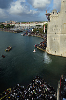 DIVING - RED BULL CLIFF DIVING 2011 - LA ROCHELLE (FRA) - 16 TO 18/06/2011 - PHOTO : VINCENT CURUTCHET / DARK FRAME / DPPI - Michal Navratil (cze) dives from the 27.5 metre platform the first round of the fourth stop of the Red Bull Cliff Diving World Series at La Rochelle, France on June 18th 2011.