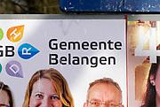 Nederland, the Netherlands, Renkum, 17-2-2018Vierkiezingsborden voor de gemeenteraadsverkiezingen die 21 maart gehouden worden .Foto: Flip Franssen