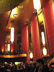 Interior shot of Radio City Music Hall Lobby, New York, before the Furthur Concert 24 February 2010