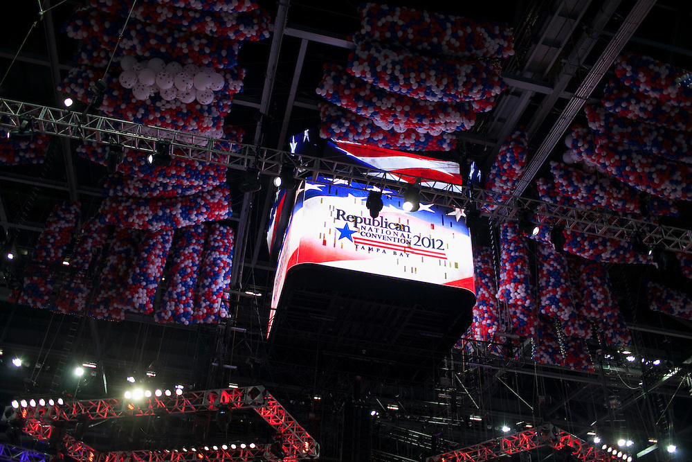 RNC Opening Ceremony in Tampa, FL, on Monday, Aug. 27, 2012. ..Photograph by Andrew Hinderaker for TIME
