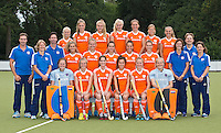 EINDHOVEN - Teamfoto Jong Oranje Dames, dat het WK in Duitsland zal spelen. COPYRIGHT KOEN SUYK