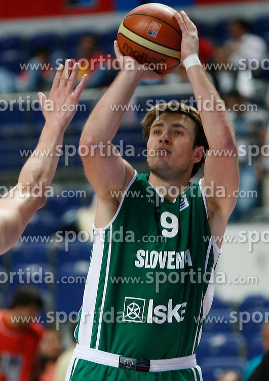 Basketball player Matjaz Smodis of Slovenia, Eurobasket 2007, Madrid.  (Photo by Vid Ponikvar/Sportida)