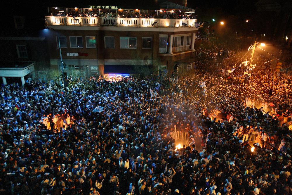 UNC Men's NCAA Basketball Championship celebration on Franklin Street | Logan MB - Photography