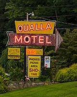 Qualla Motel neon sign, Cherokee North Carolina