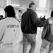 ..Inmates are approached by volunteer Christians who were preaching for 48-hours inside the Pitchess Honor Rancho, part of the sprawling LA County Jail system. Over 5100 inmates, according to records kept by the Bill Glass Prison Ministry, were born-again during that time.