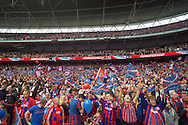 Crystal Palace fans before the FA Cup Final at Wembley Stadium, London<br /> Picture by Alan Stanford/Focus Images Ltd +44 7915 056117<br /> 21/05/2016