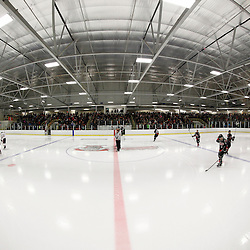 FORT FRANCES, ON - May 2, 2015 : Central Canadian Junior &quot;A&quot; Championship, game action between the Fort Frances Lakers and the Soo Thunderbirds, Championship Game of the Dudley Hewitt Cup. Fort Frances sets a new Dudley Hewitt attendence record. <br /> (Photo by Brian Watts / OJHL Images)