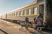 Train from Beijing, China, to Ulaanbaatar, Mongolia.