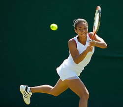 LONDON, ENGLAND - Monday, June 29, 2009: Heather Watson (GBR) during the Girls' Singles 1st Round on day seven of the Wimbledon Lawn Tennis Championships at the All England Lawn Tennis and Croquet Club. (Pic by David Rawcliffe/Propaganda)
