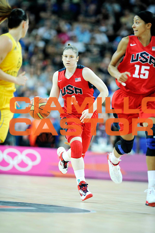DESCRIZIONE : Basketball Jeux Olympiques Londres Demi finale<br /> GIOCATORE : Whalen Lindsay USA <br /> SQUADRA : USA FEMME<br /> EVENTO : Jeux Olympiques<br /> GARA : USA AUSTRALIE<br /> DATA : 09 08 2012<br /> CATEGORIA : Basketball Jeux Olympiques<br /> SPORT : Basketball<br /> AUTORE : JF Molliere <br /> Galleria : France JEUX OLYMPIQUES 2012 Action<br /> Fotonotizia : Jeux Olympiques Londres demi Finale Greenwich Arena<br /> Predefinita :