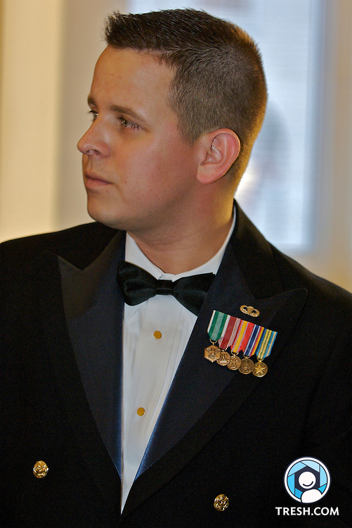 Former U.S. Army Sergeant Bleu Copas prior to the Servicemembers Legal Defense Network 15th Annual Dinner, held Saturday, March 24, 2007, at the National Building Museum in Washington, D.C.