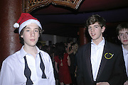 Jamie Palmer and Jack Roxburghe, Feathers Ball in aid of the Feathers Clubs. Hammersmith Palais. London. 18 December 2006. ONE TIME USE ONLY - DO NOT ARCHIVE  © Copyright Photograph by Dafydd Jones 248 CLAPHAM PARK RD. LONDON SW90PZ.  Tel 020 7733 0108 www.dafjones.com