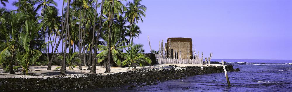 Pu'uhonua O Honaunau, City of Refuge, Island of Hawaii, Hawaii, USA<br />