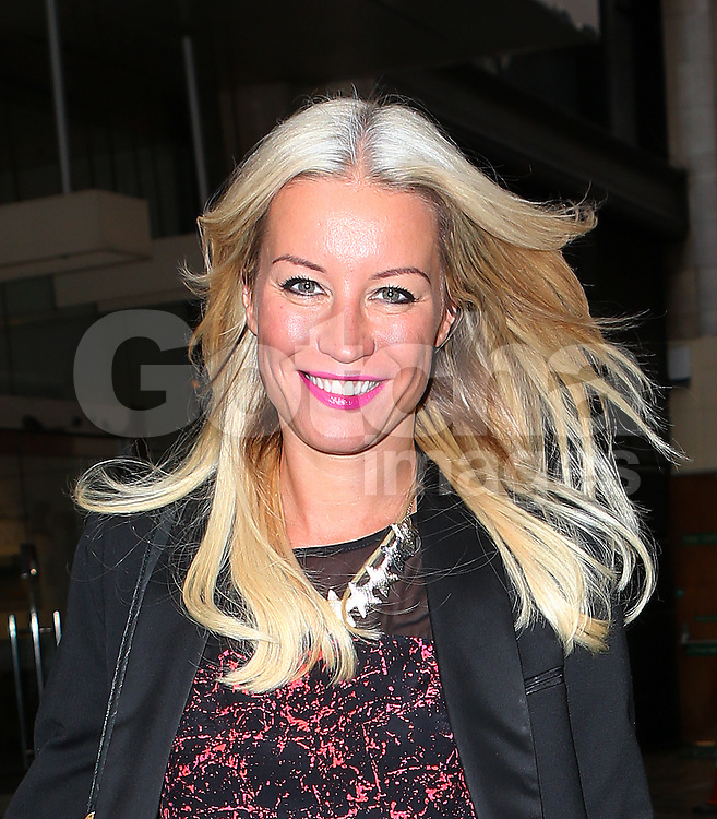 Denise Van Outen leaving Magic FM in central London, UK. 05/10/2013<br />BYLINE MUST READ : JAMESY/GOTCHA IMAGES<br /><br />Copyright by &copy; Gotcha Images Ltd. All rights reserved.<br />Usage of this image is conditional upon the acceptance <br />of Gotcha Images Ltd, terms and conditions available at<br />www.gotchaimages.com